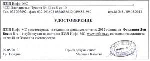 Годишен отчет 2012