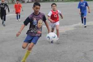 Състезание по футбол в ромския квартал на Стара Загора